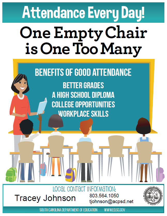 Attendance Every Day! One Empty Chair is One Too Many.