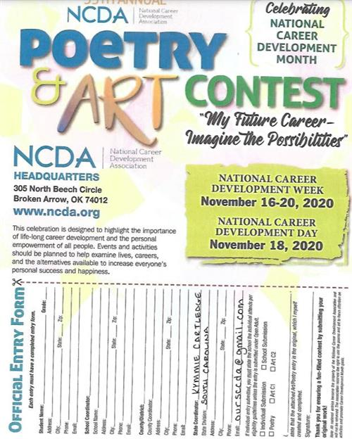 NCDA Poetry and Art Contest