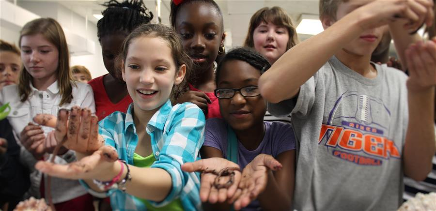 Schofield Middle School students in Science class
