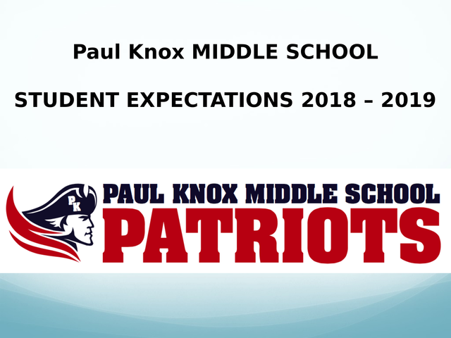 PKMS Student Expectations