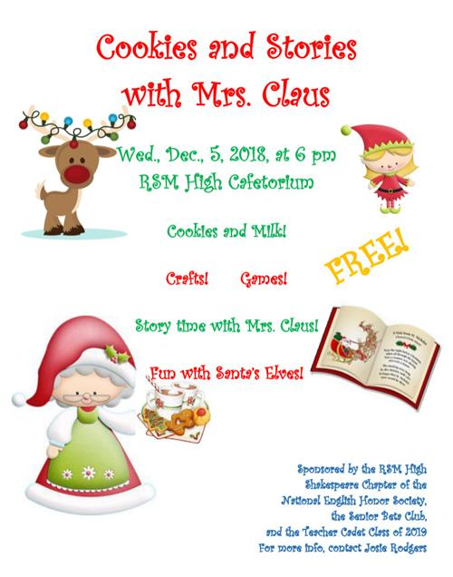 Cookies and Stories with Mrs. Claus