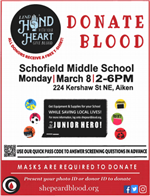 March 8th Blood Drive @ SMS