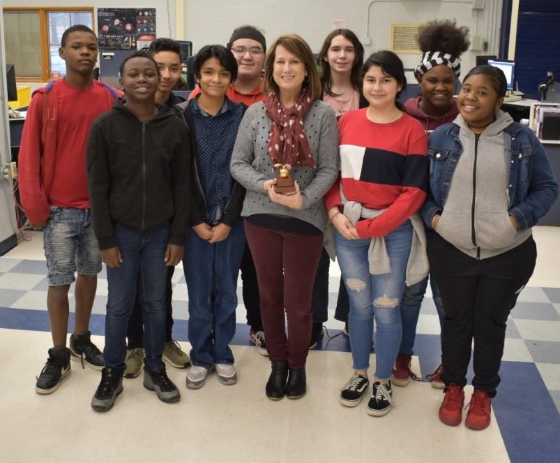 Golden Apple Award Ms. Frazier