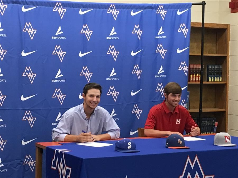 Mustangs Sign To Play College Baseball