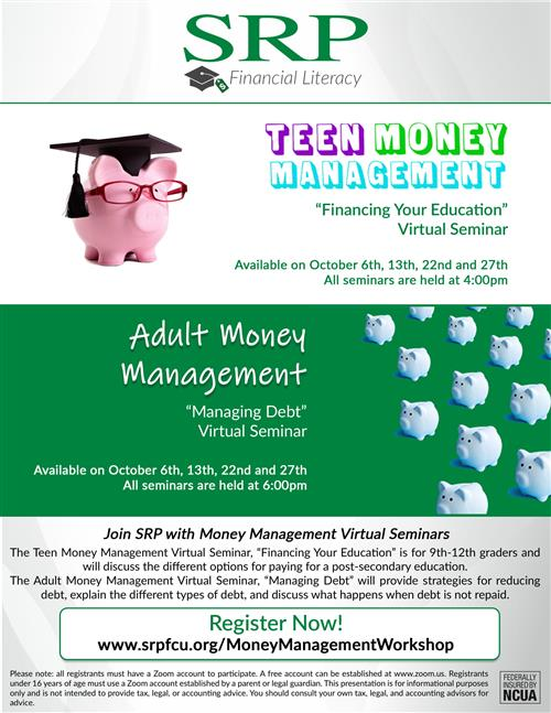 Flyer for SRP about money mgt