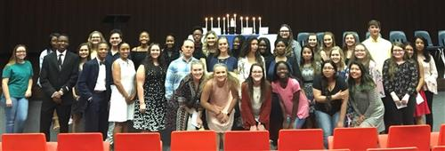 HOSA Induction: 62 Strong