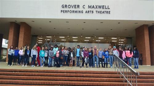 Students at Maxwell Performing Arts Theatre