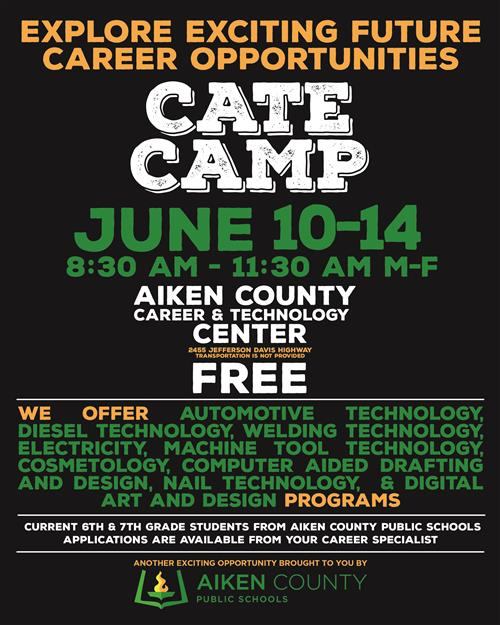 2019 ACCTC Summer CATE Camp for Middle School Students