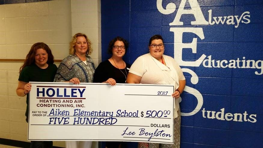 Aiken Elementary Receives Donation for Special Ed Literacy Program from Holley Community Fund