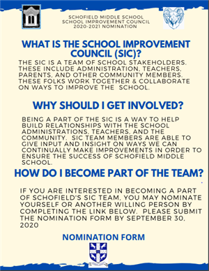 School Improvement Council Nomination