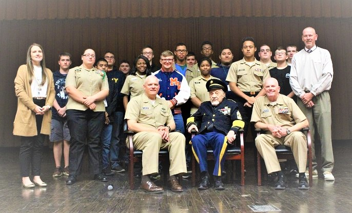 Midland Valley High Students Honored By Visit With World War II, D-Day Veteran Sergeant Major Jim D