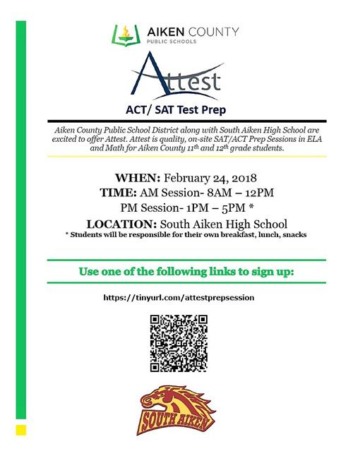 Attest ACT/SAT Flyer
