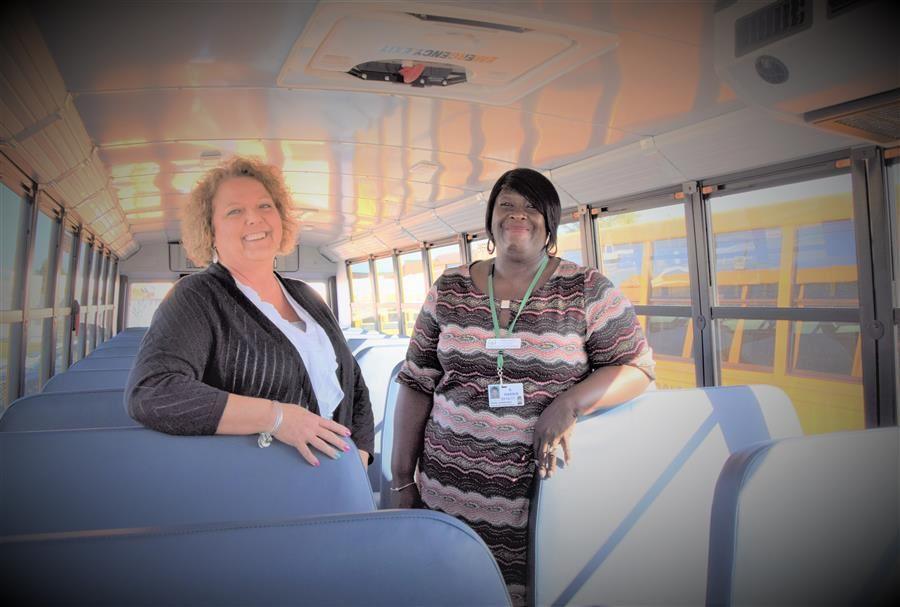 Former Transportation Director Maria McClure and New Transportation Director Sharon Harris