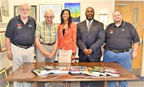 radio club donates to midland valley high