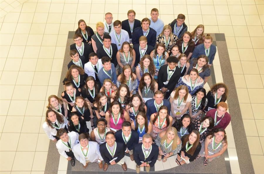 School district recognizes first class or Senior Scholars
