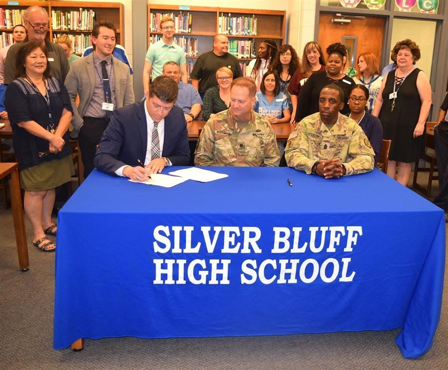 Silver Bluff partners with Fort Gordon through Adopt-A-School program
