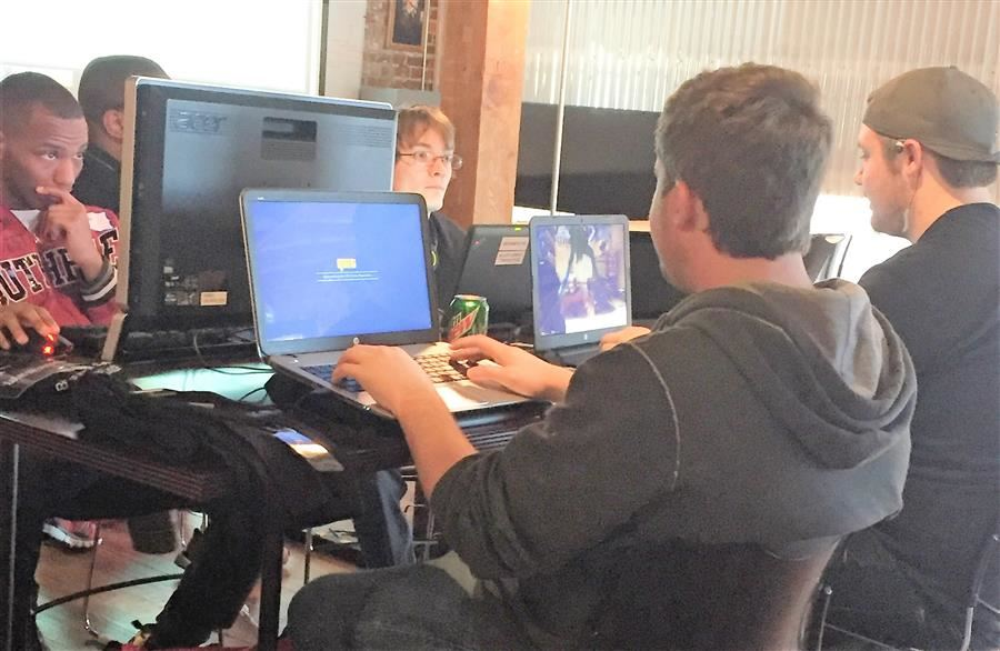 Students Working on Cyber-Security Programs
