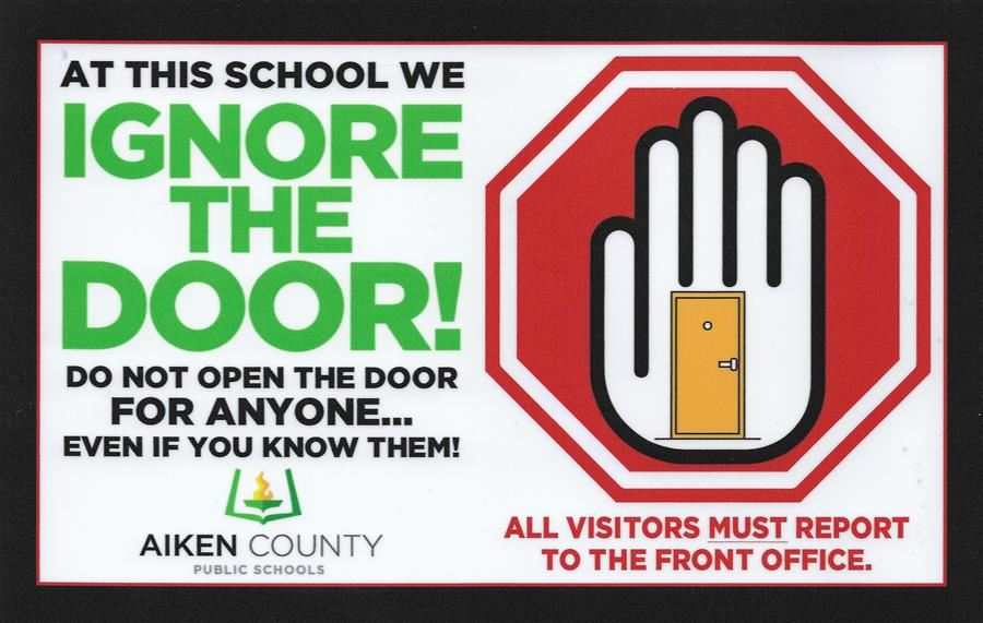 To ensure school-wide safety, all visitors must stop by the office and get a visitor's sticker.