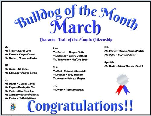 Bulldog of the Month