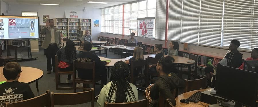 Jackson and New Ellenton Middle Schools Held Their First Cyber Technology Day