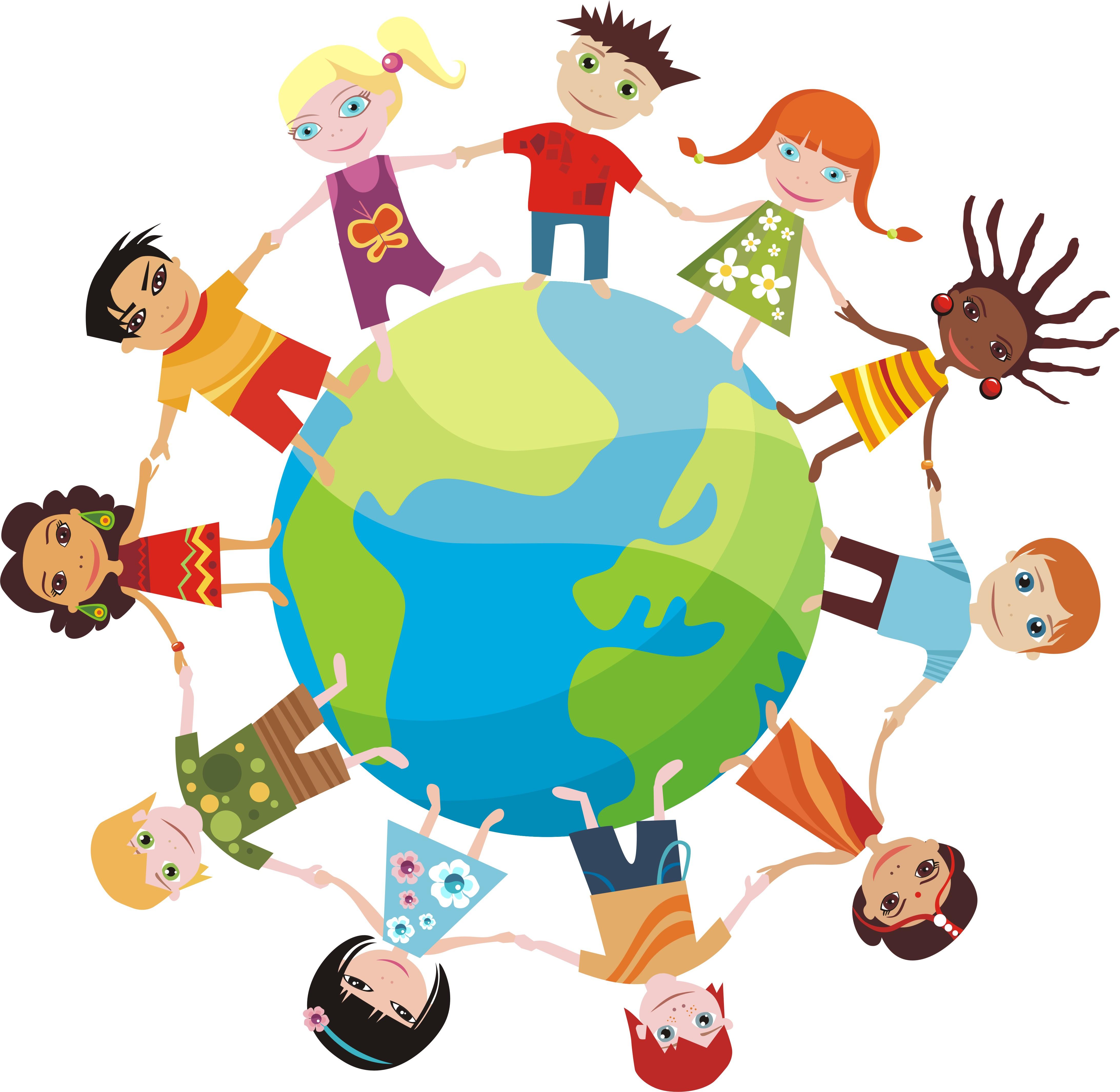 Картинка планета земля дружба народов