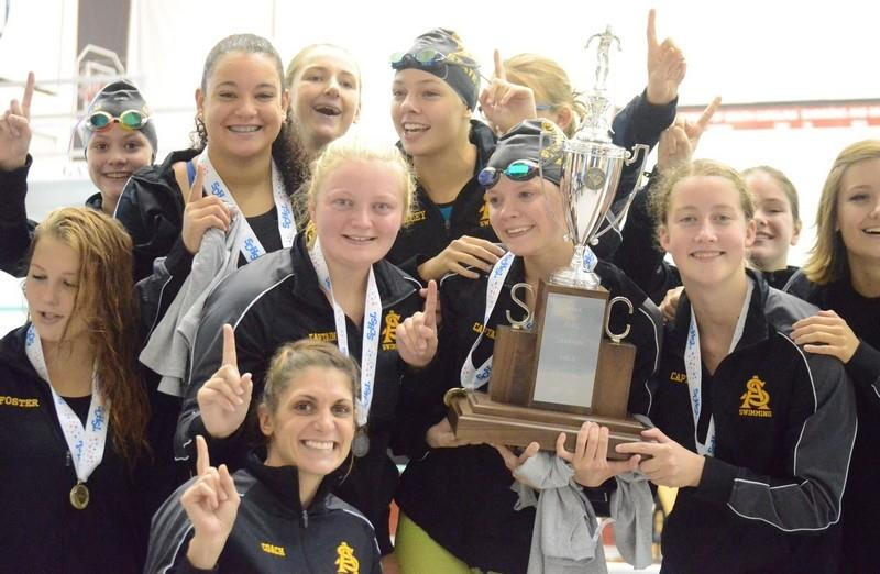 SAHS Girls Swimming Team Wins State