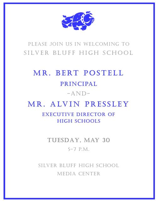 DROP IN AND MEET THE NEW PRINCIPAL